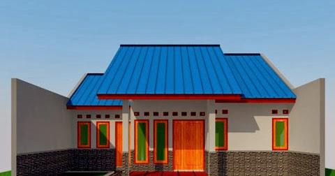 gambar desain rumah sederhana type 60 m2 3 kamar tidur
