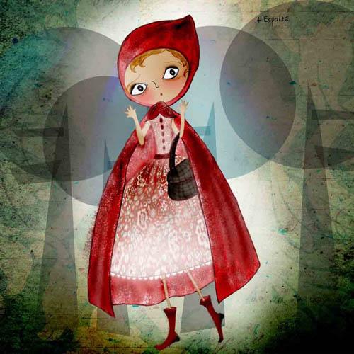 ilustracion dibujos cuentos caperucita