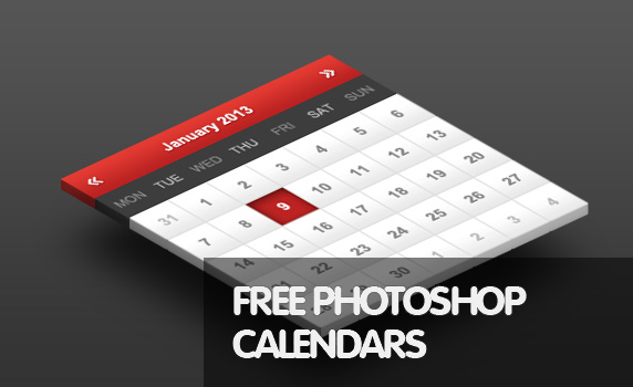 30 Best Free PSD Calendar Designs