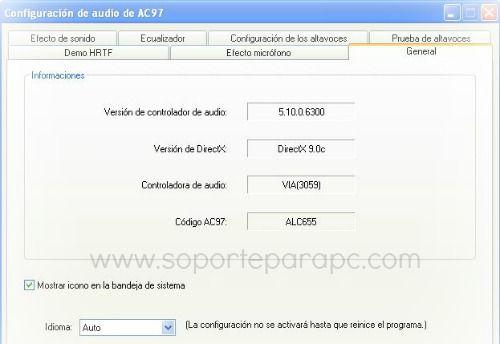 bajar realtek ac'97 audio driver en español