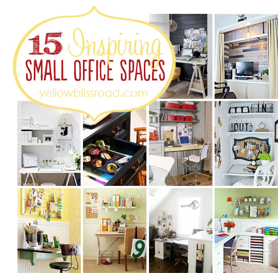 15 Inspiring Small Office Spaces and What Im Working On Yellow
