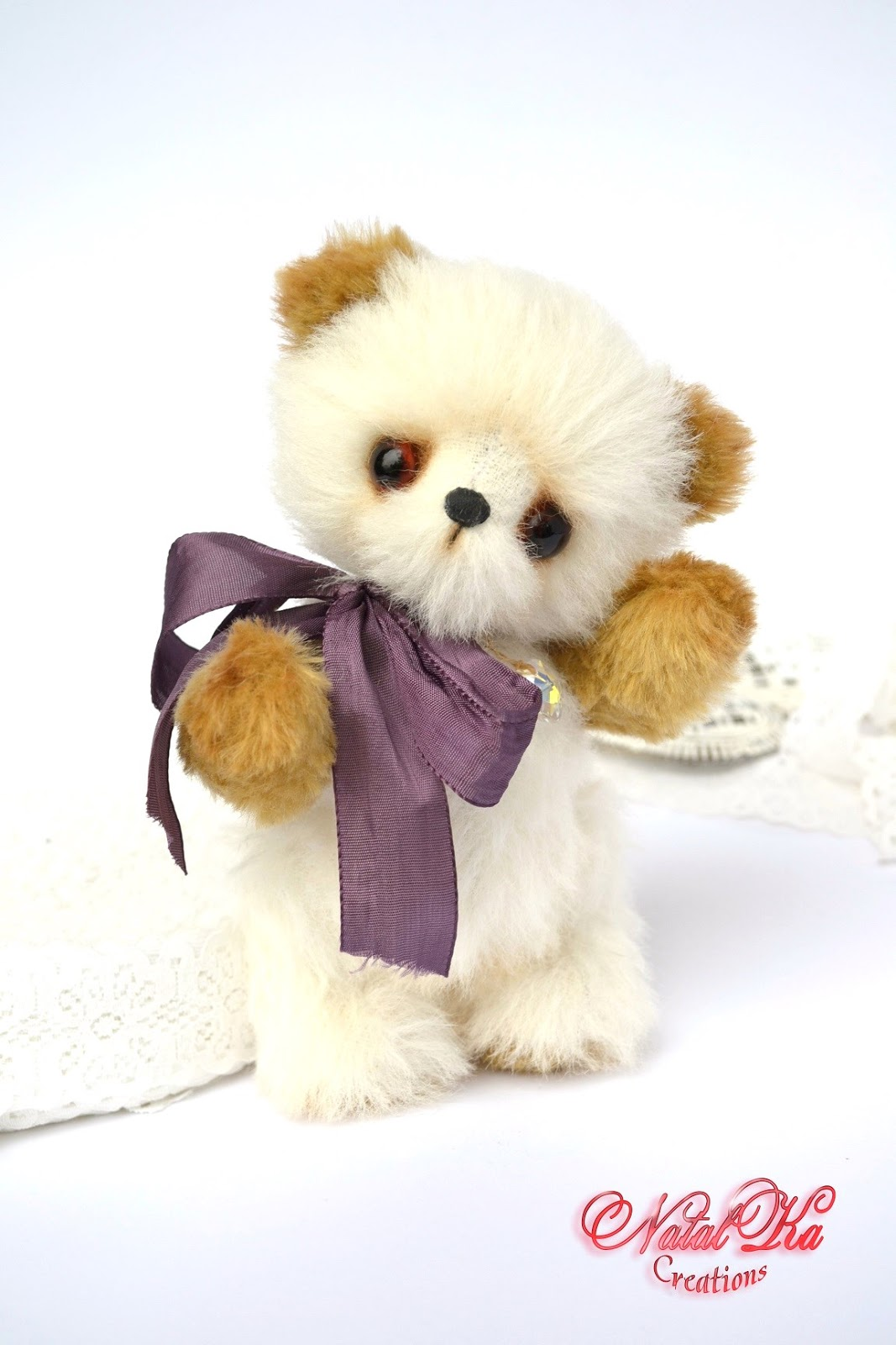 Teddybär, Künstlerbär, Bär, Teddy aus Mohair handgemacht von NatalKa Creations. Artist teddy bear, teddies, teddy bear, mohair, ooak, handmade by NatalKa Creations