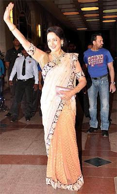 Hema Malini at Esha Deol's Music Ceremony