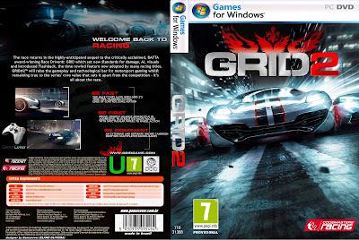 Jogo GRID 2 PC DVD Capa