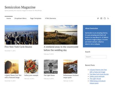 Semicolon WordPress Theme