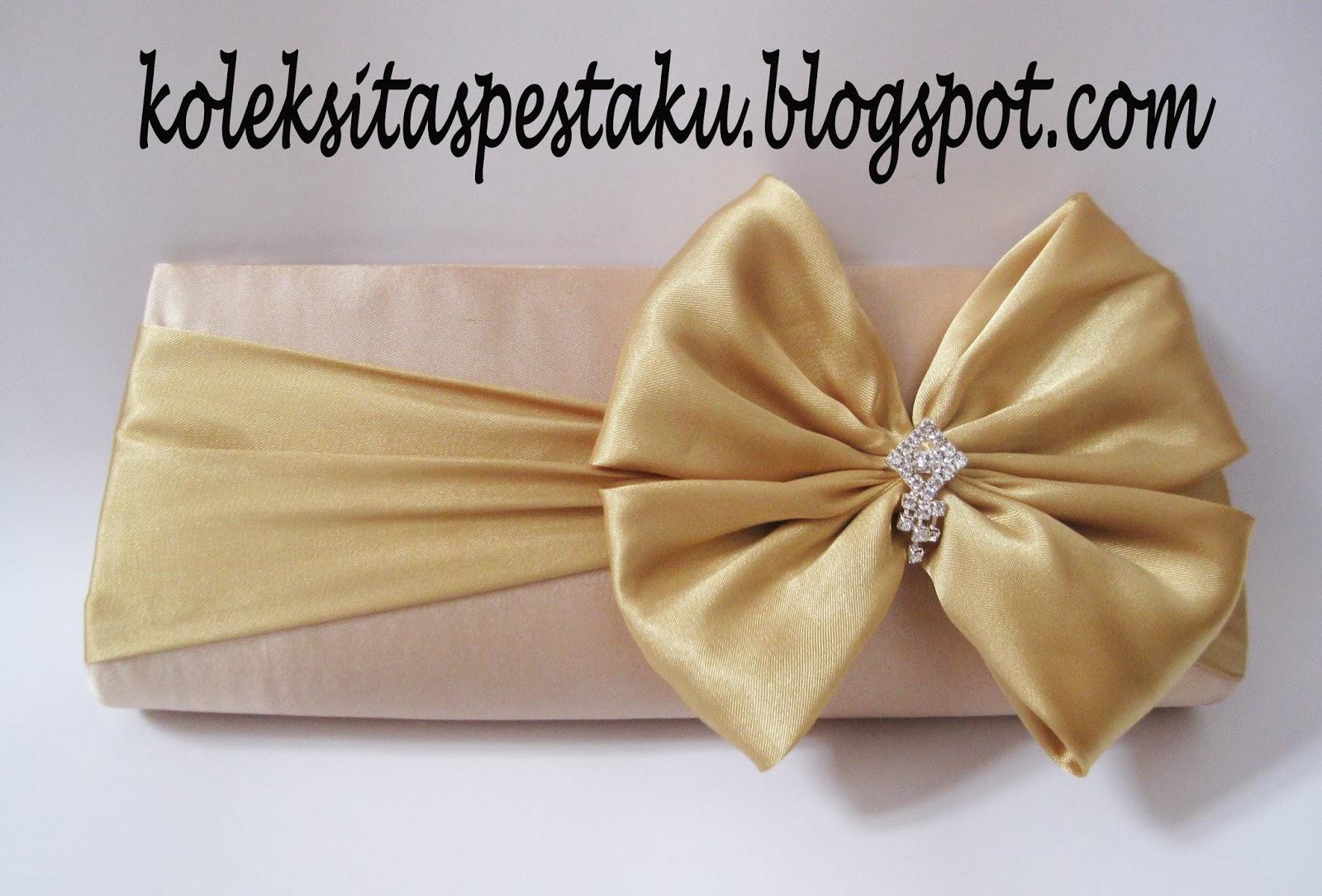 dompet tas cream gold