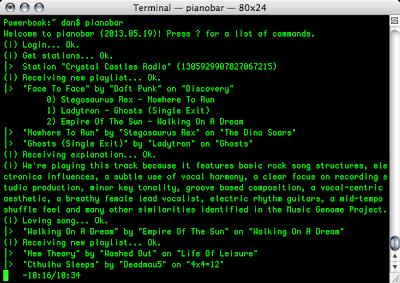 pianobar on OS X