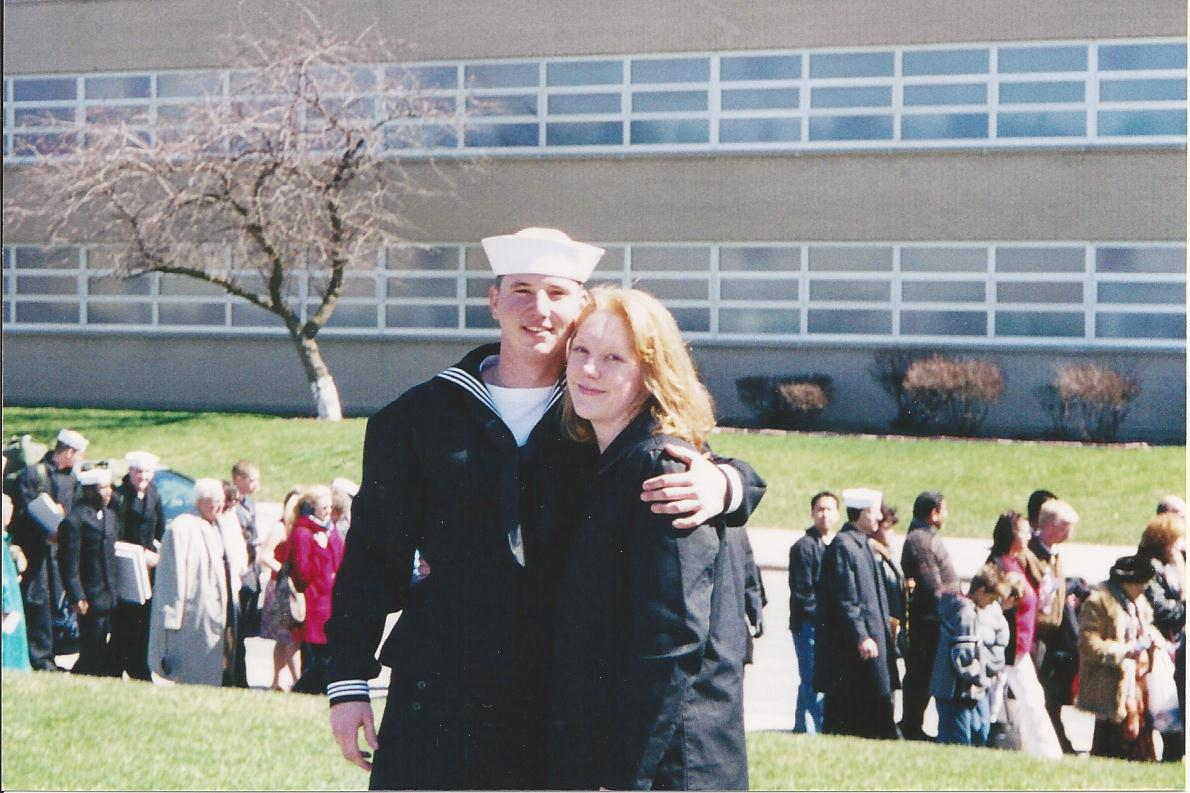 He left for Navy boot camp and then I joined him as we moved to