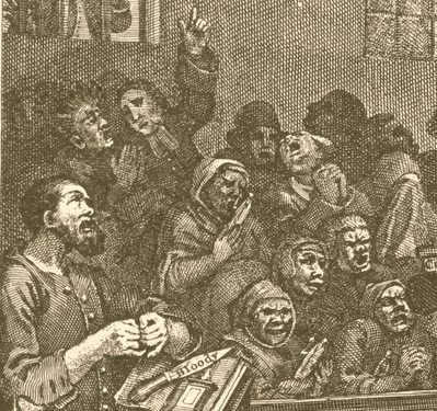 William Hogarth: Credulity, Superstition, and Fanaticism (detail)