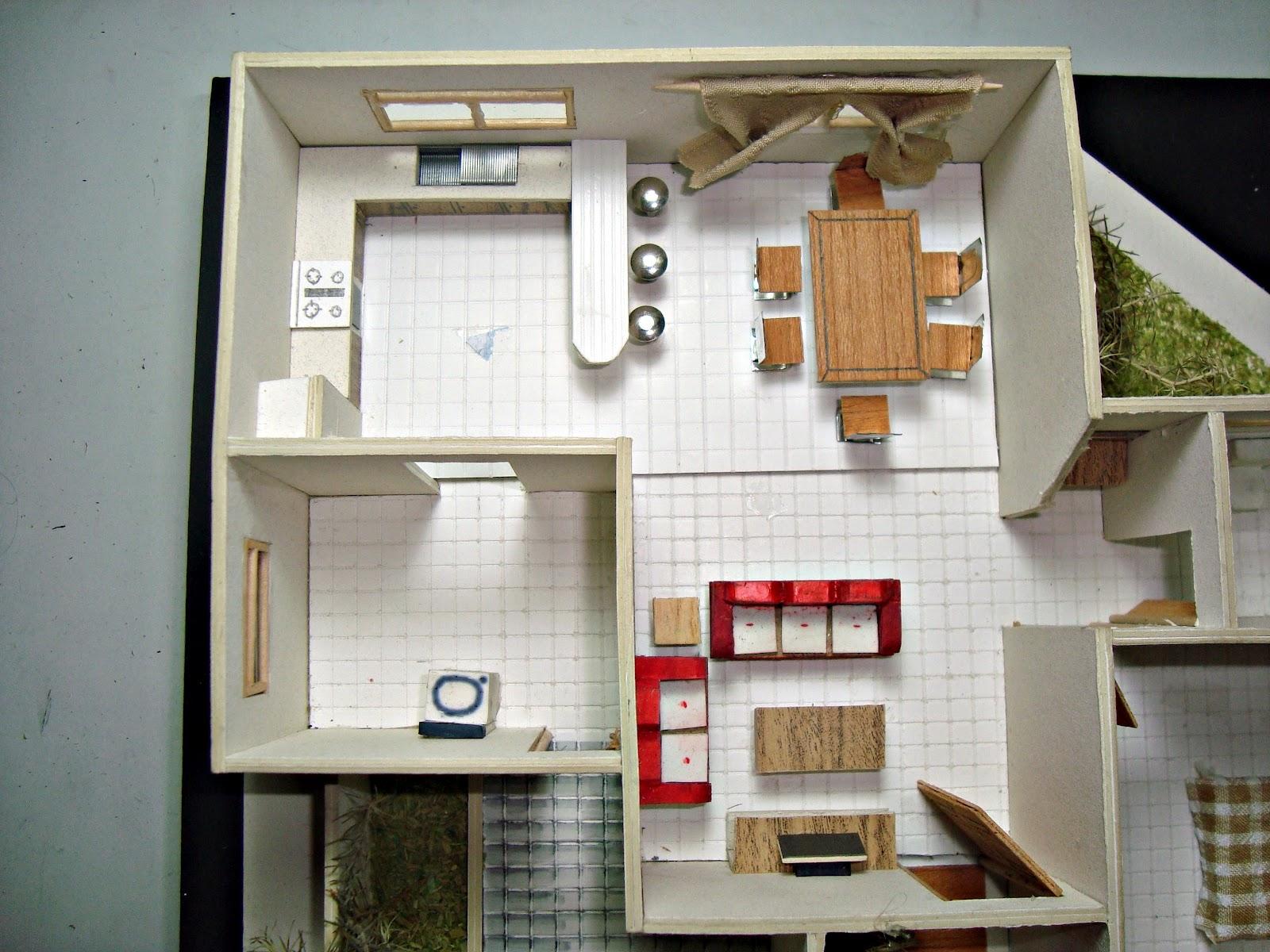 Portafolio dise o arquitect nico modelos arquitectonicos 1 for Diseno de casa sala comedor y cocina