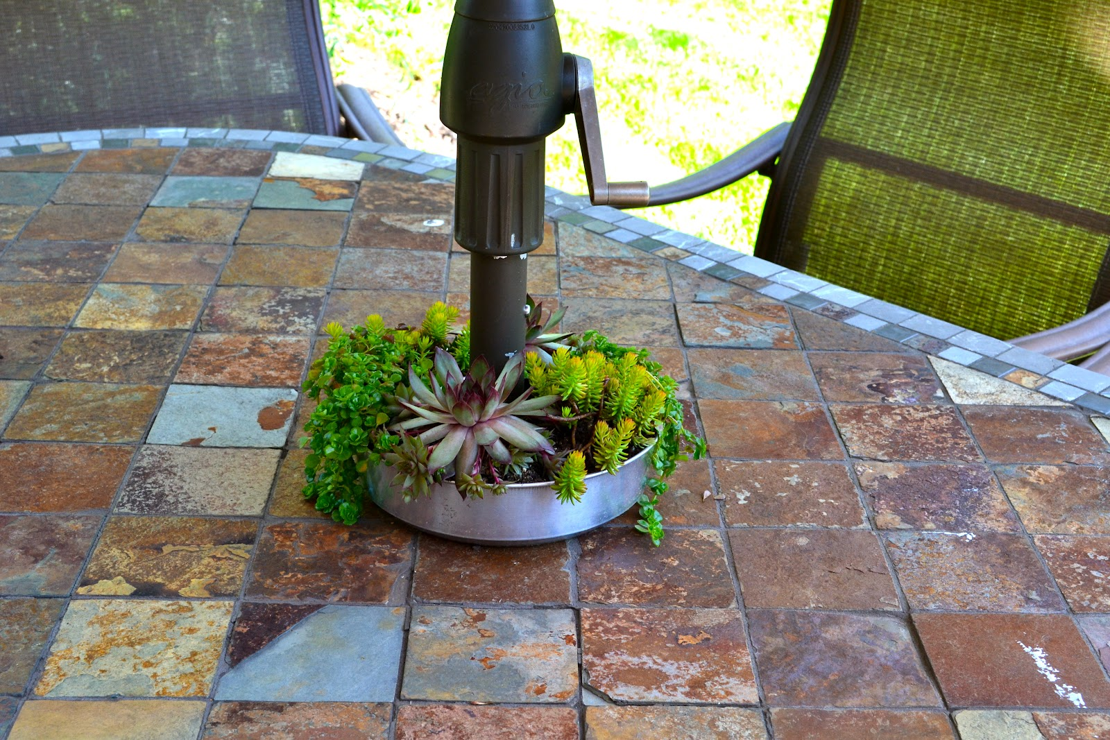 Put them all together for a lovely patio table decor! You can slip the ...