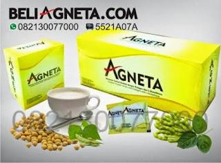 BELI 1 paket FREE ONGKIR !  Produk Agneta ada Susu Soya, dengan rasa Vanilla.   KOMPOSISI Unggulan didalamnya :  - Soya, kenapa cuman soya aja mahal, beli susu kedelai di pasar murah..?  Beda yaa... soya di Agneta sudah mengalamai proses teknologi nano yang memudahkan penyerapan ditubuh Soya mengandung berbagai zat senyawa anti aging ( menghambat penuaan dini)   - Collagen, fungsi collagen dapat membuat kulit lebih kencang, mengurangi garis2 keriput di wajah, dapat mencegah penuaan dini menjaga elastisitas kulit, menjaga kulit tetap sehat. 4000mg Collagen ada dalam 1 sachet.   - Glutathione, sebenernya tubuh kita memproduksi glutathione hampir diseluruh tubuh kita, tetapi karena proses makan dan kehidupan yg tidak teratur, zat kimia berbahaya dalam makanan, maka Agneta menyediakan Formula yang mengandung Glutathione yang fungsinya sebagai Antioksidan. Melindungi kita dari berbagai penyakit.. 360mg Gluthathione terkandung dalam setiap 1 sachet Agneta.   - Ganggang Laut, Asli dari Laut Slandia.. Dan cuman Agneta yang menggunakan ini..