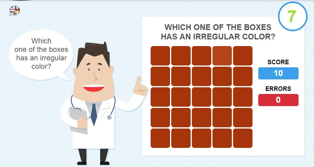 Captivating Eye Test   Online Games To Check Your Color Vision