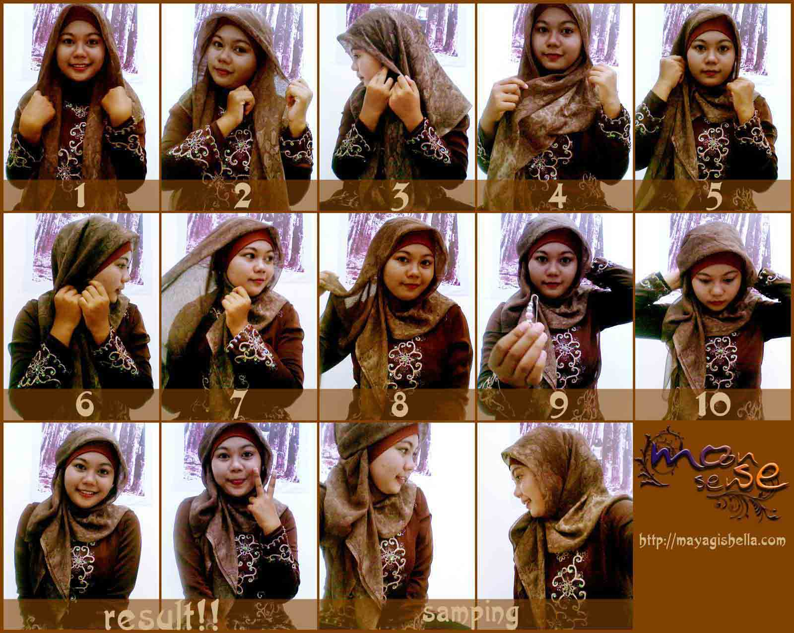 Moonsense Cara Memakai Hijab 11 Simple Elegan Brown