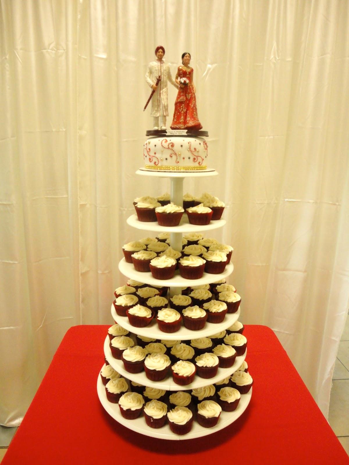 Pink Sugar Cupcakes: Indian Wedding Cupcake Tower
