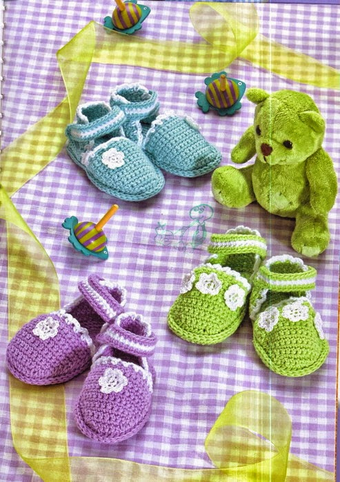 Pattern Baby shoes / Zapatitos para bebés crochet