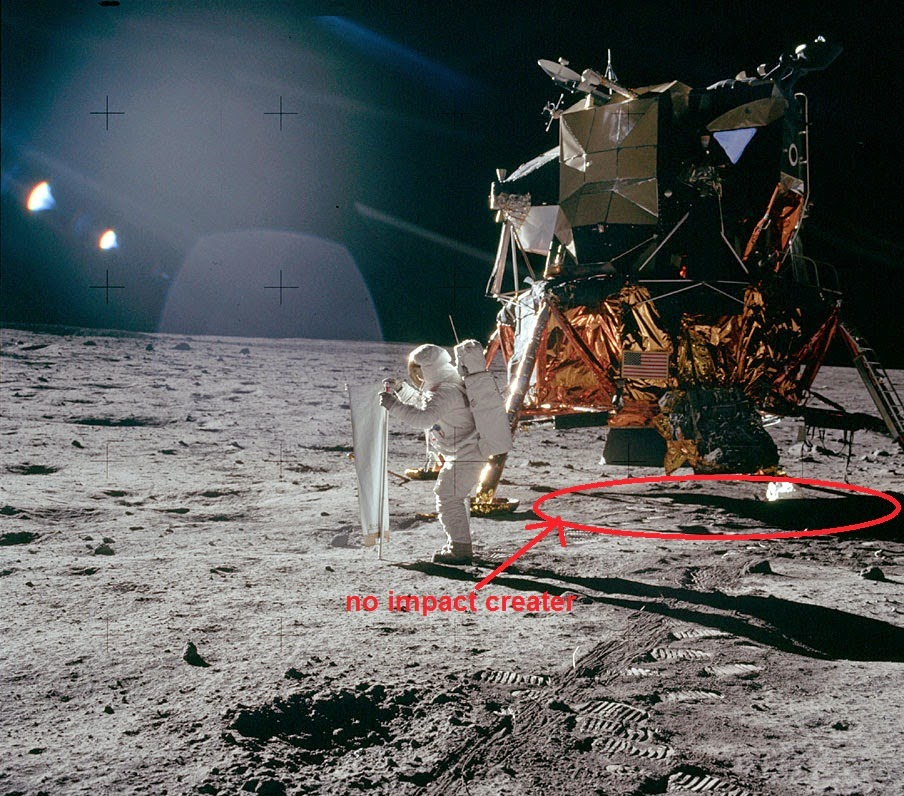 No impact crater Conspiracy NASA space program moon landing controversy science astronomy space astronauts apollo