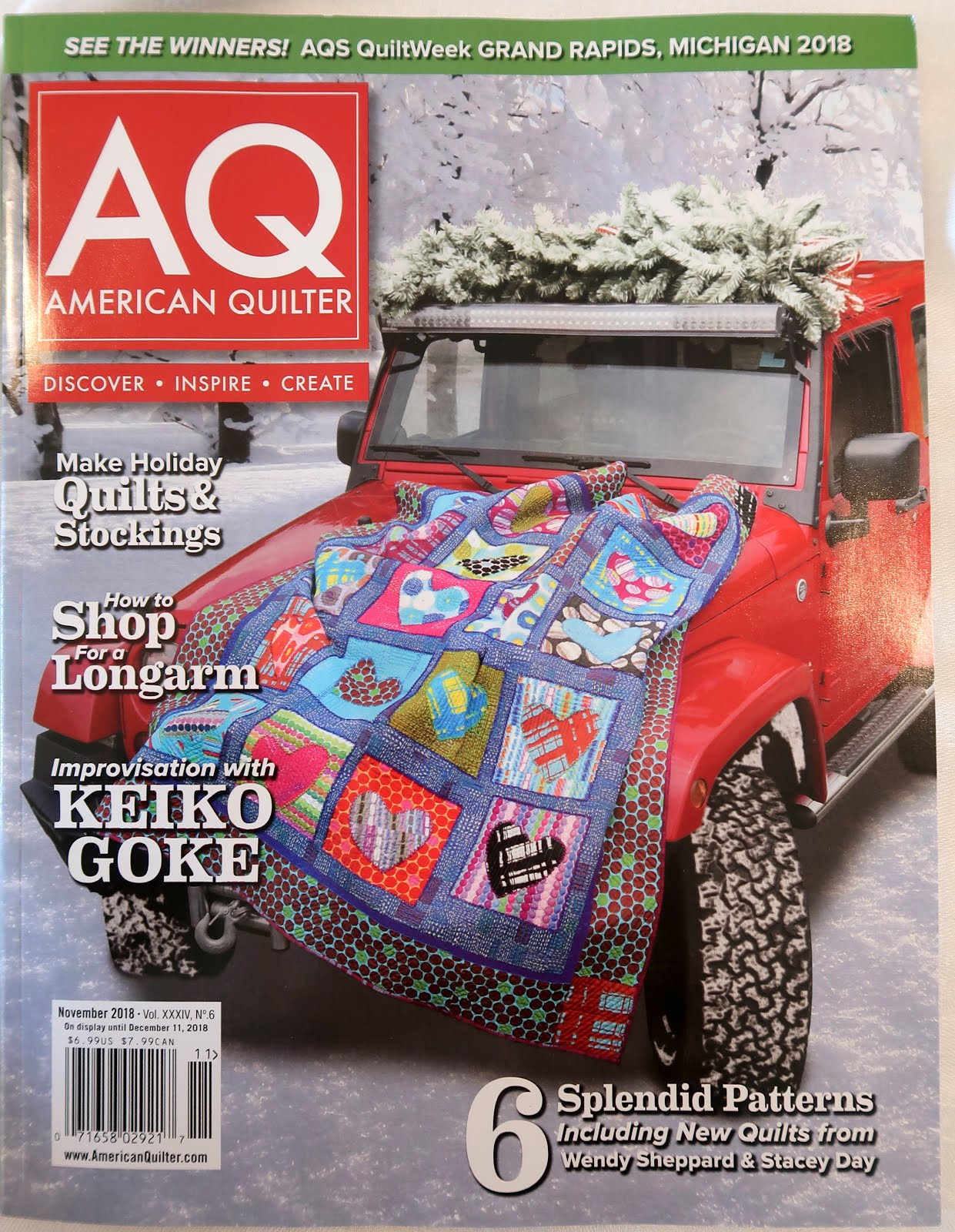 New! American Quilter magazine - November 2018 (click!)