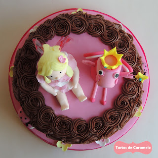 Tarta del hada buena y el hada Peppa Pig: vista desde arriba