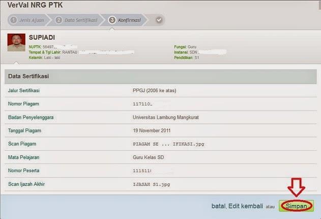 Untuk cetak verval ulang,klik Verval NRG,maka akan muncul Cetak