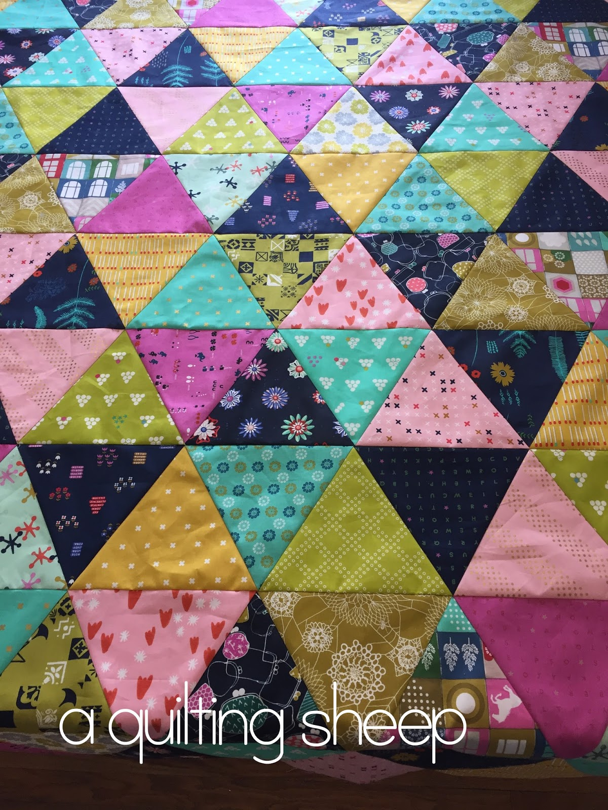 A Quilting Sheep: Cotton and Steel {Triangle Quilt} : cotton for quilting - Adamdwight.com