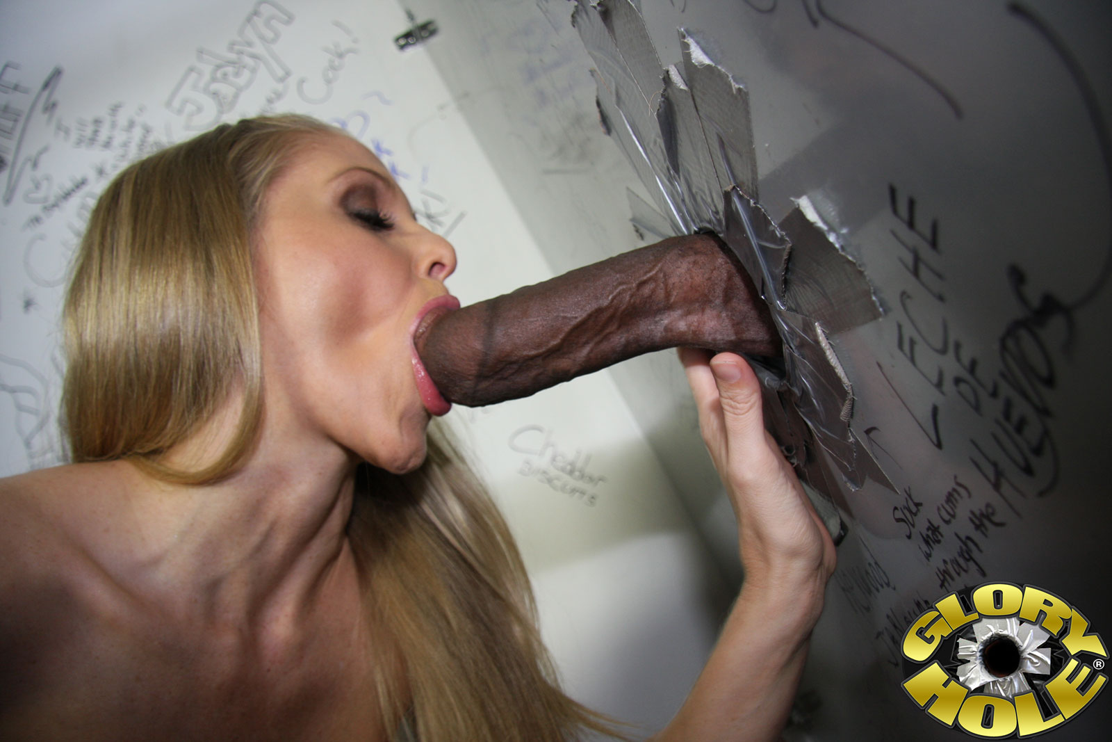 Cute Gay Dick Sucked Through Gloryhole