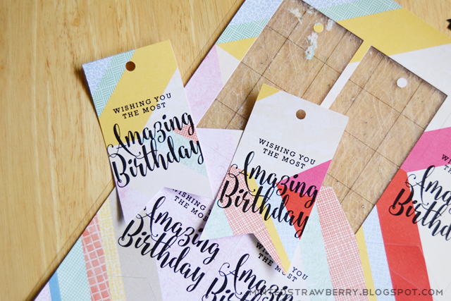 Free Birthday Tags ~ Free printable gold foiled birthday tags minted strawberry