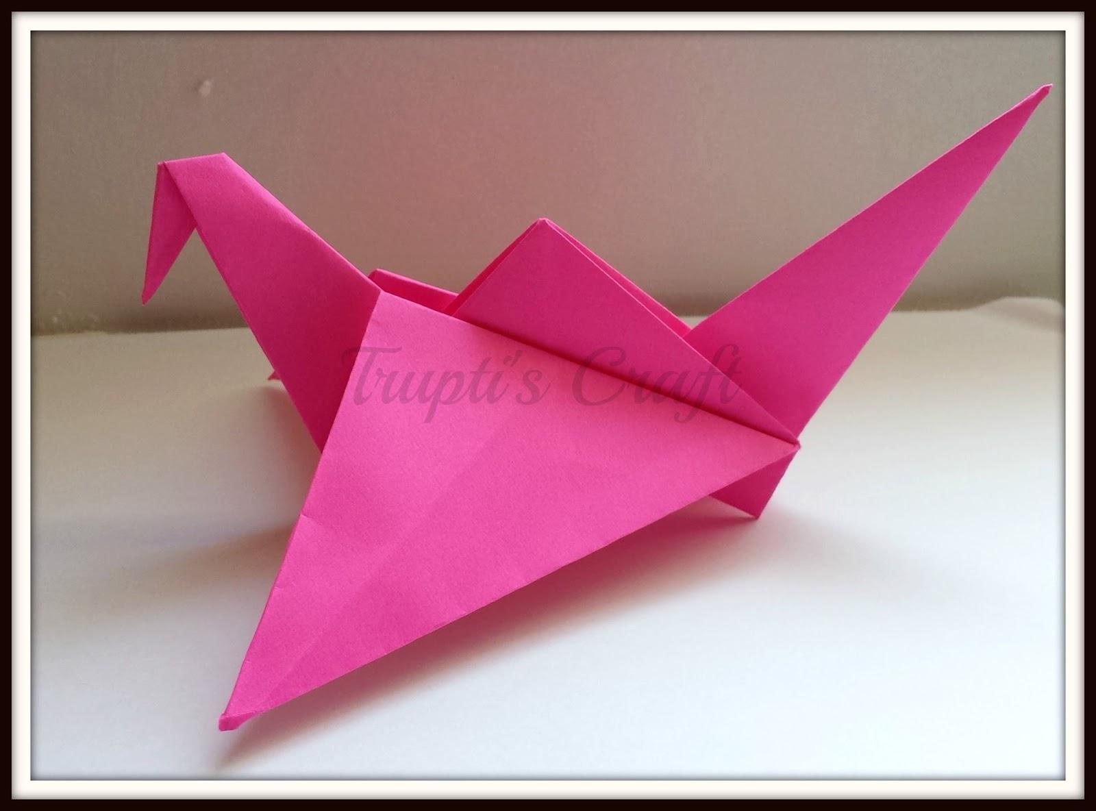 truptis craft origami flapping bird