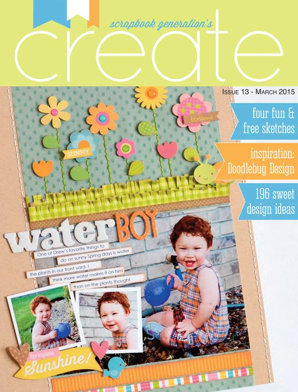 Scrapbook Generation's Create Magazine March 2015