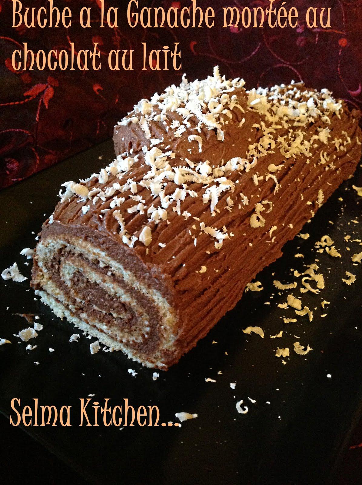buche tr 233 s facile et l 233 g 232 re a la ganache mont 233 e au chocolat au lait et copeau de chocolat blanc