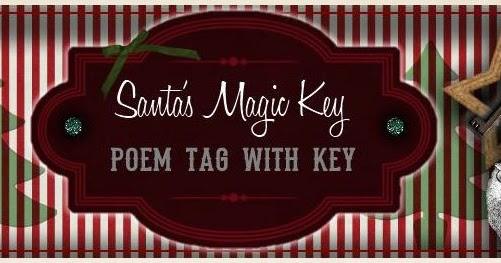 sweetly scrapped  santa u0026 39 s magic key poem tags