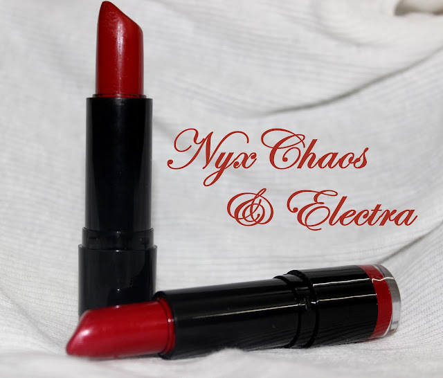 NYX Round Lipsticks in Electra  amp  Chaos  Review  amp  SwatchesNyx Chaos