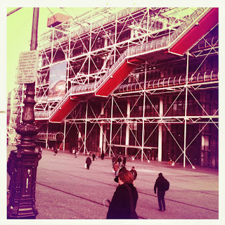 centre pompidou paris exterior outside lomography