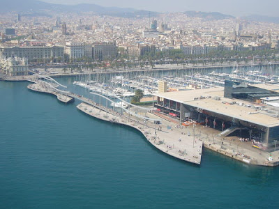 Barcelona Harbour from the Cable Car