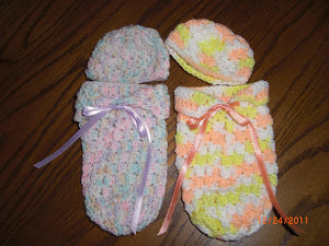 Preemie cuddle sacks