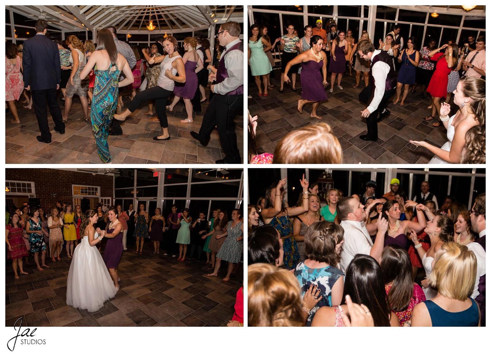 Jonathan and Julie, Bird cage, West Manor Estate, Wedding, Lynchburg, Virginia, Jae Studios, dancing, reception, guests, bridesmaids, wedding party, wedding dress, bride, groom