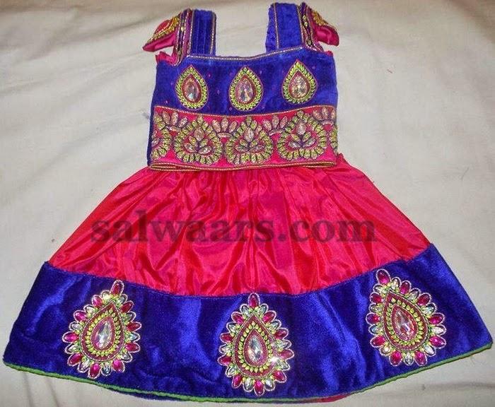 Pure Silk Skirt in Pink Purple