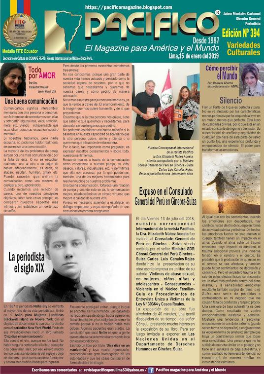 Revista Pacifico N° 394 Variedades Culturales