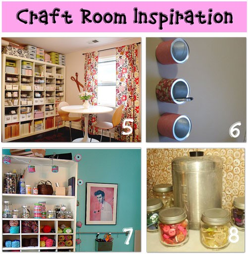 Crafty girl bliss craft room ideas from pinterest for Diy craft room decorating ideas