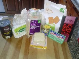 cheese cake al cocco e scaglie di cioccolato vegan