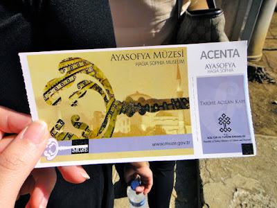 Hagia Sophia Museum Entry Ticket Istanbul Turkey