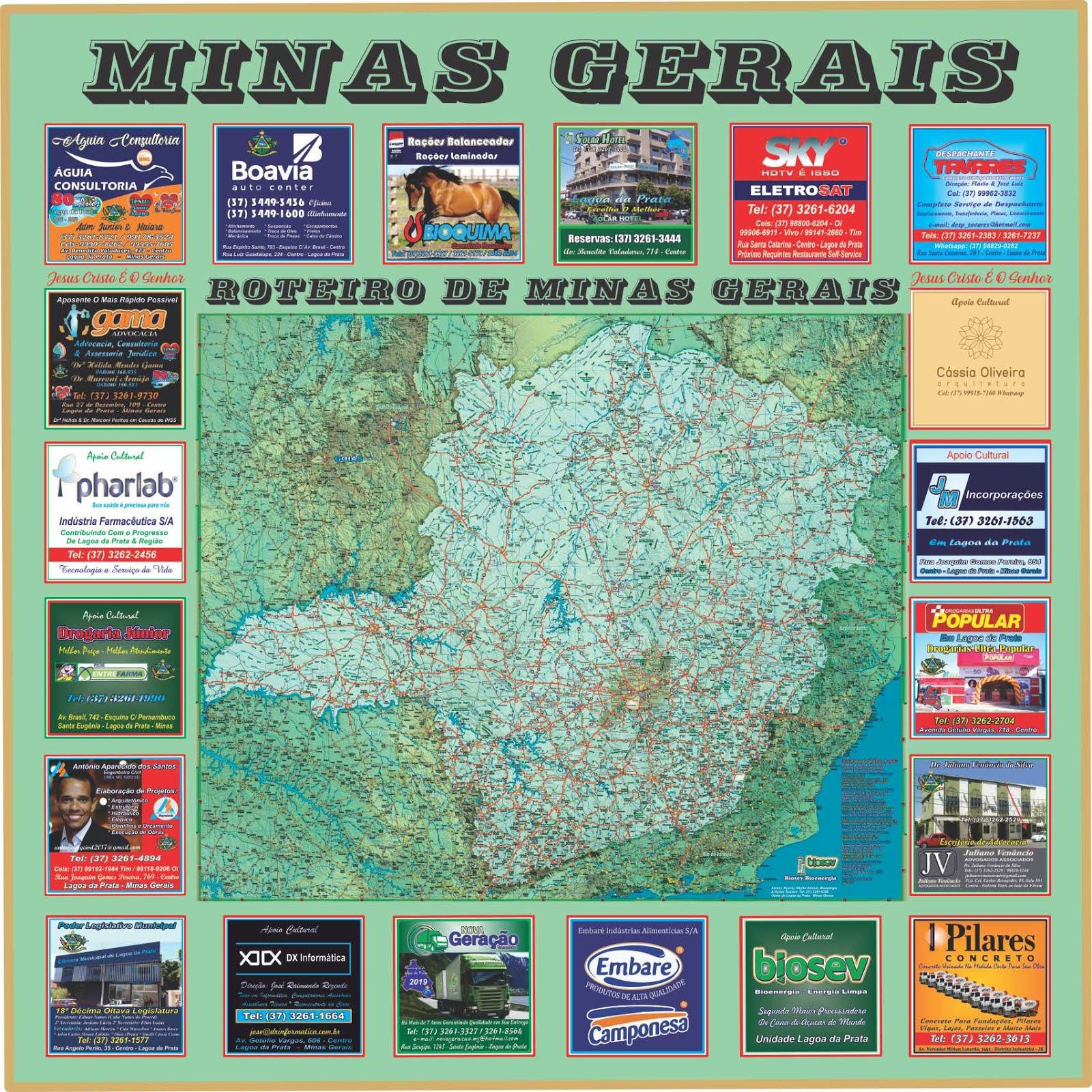 Roteiro Turístico de Minas Gerais 2019