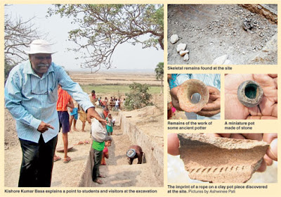 Excavation in Odisha reveals artefacts, living area