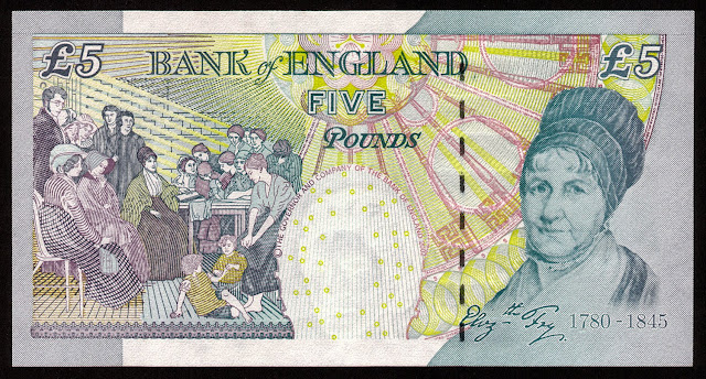 British Banknotes 5 Pound Sterling note 2002 Elizabeth Fry