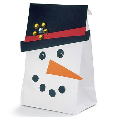 Снежен човек торбичка за коледен подарък