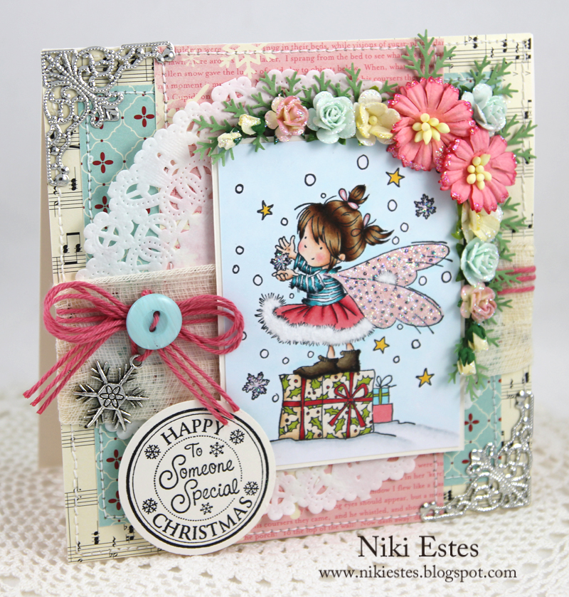 Happy crafters cottage happy christmas to someone special i pulled out an older stamp from lili of the valley for my card today its called winter fairy such a cute image the sentiment is from the christmas m4hsunfo Gallery