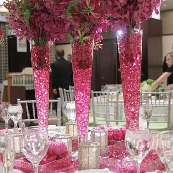 Beautiful Pink Crystal Wedding Decorations