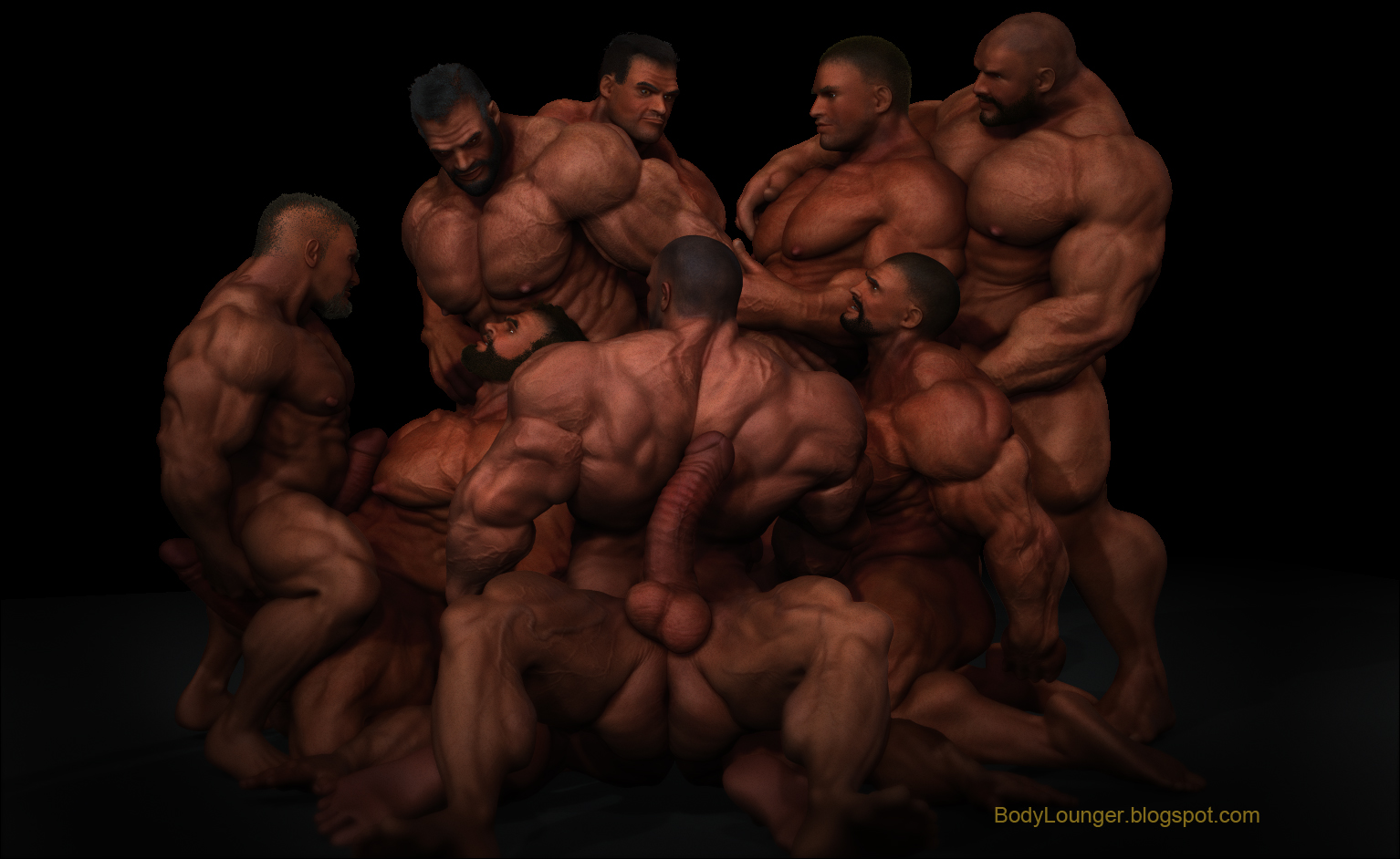 Gay orgy his body was all opened up out and