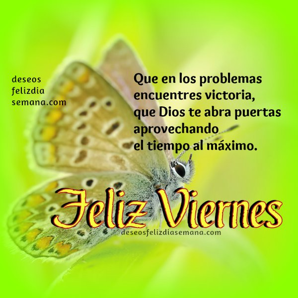 mensajes de feliz viernes cristianos, frases, pensamientos del viernes, saludos para facebook viernes, buenos deseos dia semana, Mery Bracho.