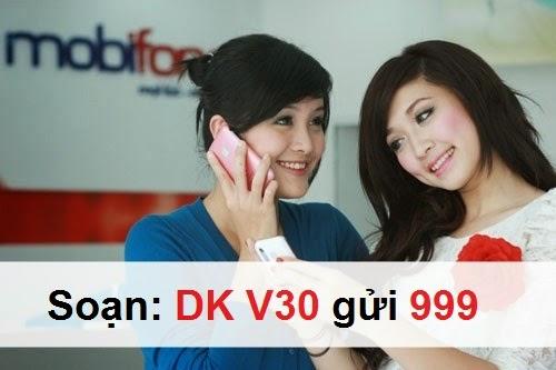 Đăng ký gói V30 Mobifone có ngay 300 phút gọi nội mạng